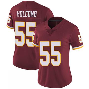 Women's Nike Washington Redskins Cole Holcomb Burgundy 100th Vapor Jersey - Limited