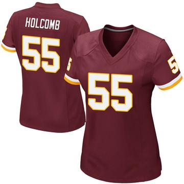Women's Nike Washington Redskins Cole Holcomb Burgundy Team Color Jersey - Game