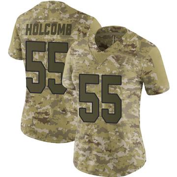 Women's Nike Washington Redskins Cole Holcomb Camo 2018 Salute to Service Jersey - Limited