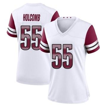 Women's Nike Washington Redskins Cole Holcomb White Jersey - Game