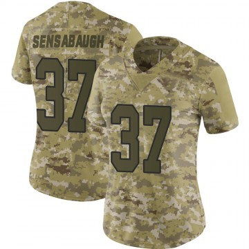 Women's Nike Washington Redskins Coty Sensabaugh Camo 2018 Salute to Service Jersey - Limited