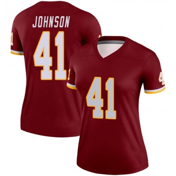 Women's Nike Washington Redskins Danny Johnson Burgundy Jersey - Legend