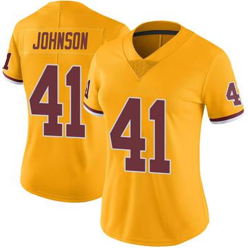 Women's Nike Washington Redskins Danny Johnson Gold Color Rush Jersey - Limited