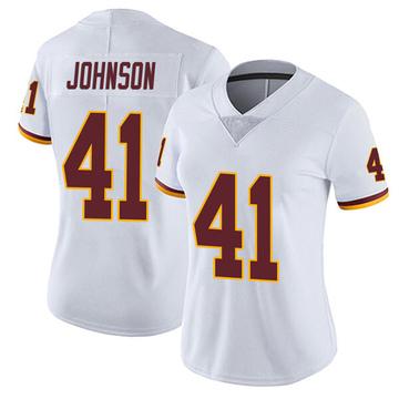 Women's Nike Washington Redskins Danny Johnson White Vapor Untouchable Jersey - Limited