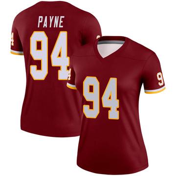 Women's Nike Washington Redskins Daron Payne Burgundy Jersey - Legend