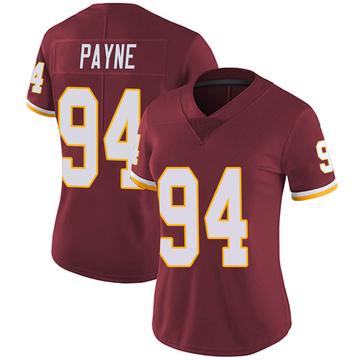Women's Nike Washington Redskins Daron Payne Burgundy Team Color Vapor Untouchable Jersey - Limited
