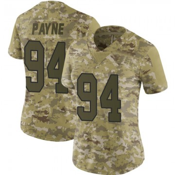 Women's Nike Washington Redskins Daron Payne Camo 2018 Salute to Service Jersey - Limited