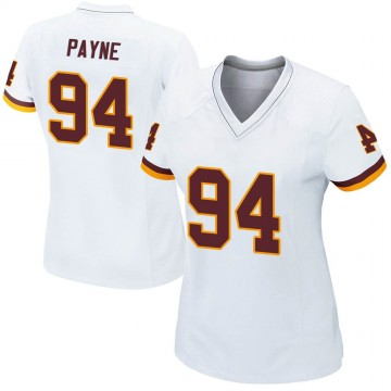 Women's Nike Washington Redskins Daron Payne White Jersey - Game