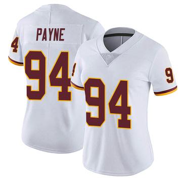 Women's Nike Washington Redskins Daron Payne White Vapor Untouchable Jersey - Limited
