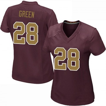 Women's Nike Washington Redskins Darrell Green Green Burgundy Alternate Jersey - Game