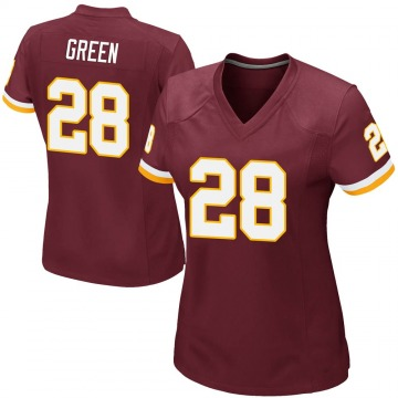 Women's Nike Washington Redskins Darrell Green Green Burgundy Team Color Jersey - Game