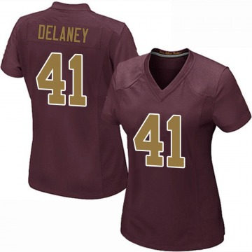 Women's Nike Washington Redskins Dee Delaney Burgundy Alternate Jersey - Game