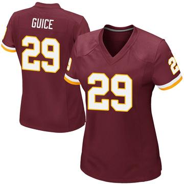 Women's Nike Washington Redskins Derrius Guice Burgundy Team Color Jersey - Game