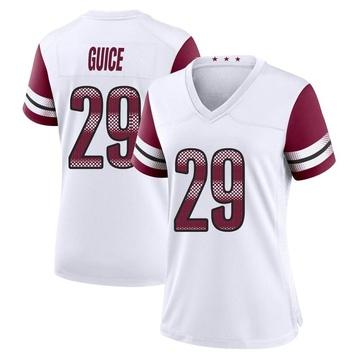 Women's Nike Washington Redskins Derrius Guice White Jersey - Game