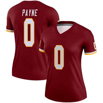 Women's Nike Washington Redskins Donald Payne Burgundy Jersey - Legend