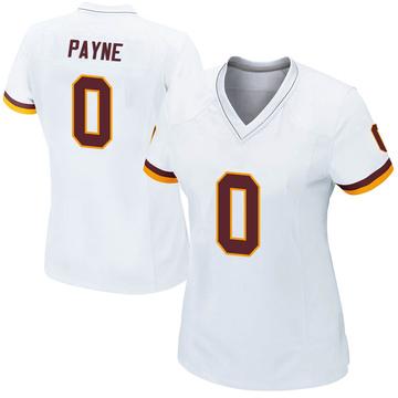 Women's Nike Washington Redskins Donald Payne White Jersey - Game
