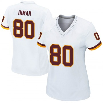 Women's Nike Washington Redskins Dontrelle Inman White Jersey - Game