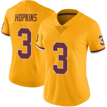 Women's Nike Washington Redskins Dustin Hopkins Gold Color Rush Jersey - Limited