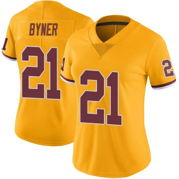 Women's Nike Washington Redskins Earnest Byner Gold Color Rush Jersey - Limited