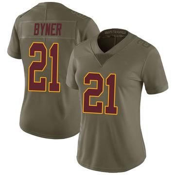 Women's Nike Washington Redskins Earnest Byner Green 2017 Salute to Service Jersey - Limited