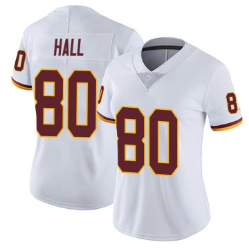 Women's Nike Washington Redskins Emanuel Hall White Vapor Untouchable Jersey - Limited
