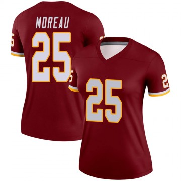 Women's Nike Washington Redskins Fabian Moreau Burgundy Jersey - Legend