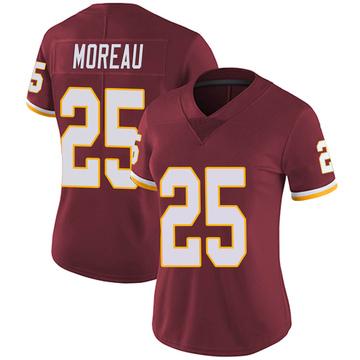 Women's Nike Washington Redskins Fabian Moreau Burgundy Team Color Vapor Untouchable Jersey - Limited