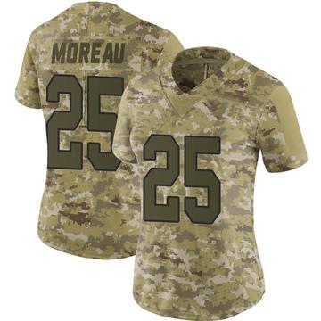 Women's Nike Washington Redskins Fabian Moreau Camo 2018 Salute to Service Jersey - Limited
