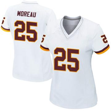 Women's Nike Washington Redskins Fabian Moreau White Jersey - Game