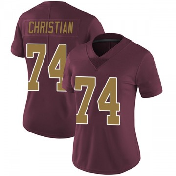 Women's Nike Washington Redskins Geron Christian Burgundy Alternate Vapor Untouchable Jersey - Limited