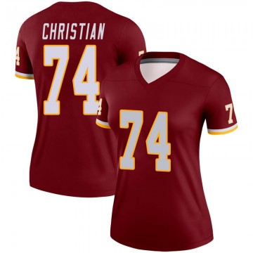 Women's Nike Washington Redskins Geron Christian Burgundy Jersey - Legend
