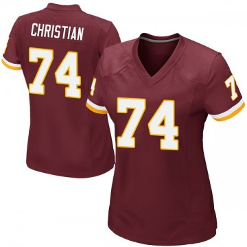 Women's Nike Washington Redskins Geron Christian Burgundy Team Color Jersey - Game