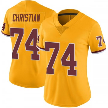 Women's Nike Washington Redskins Geron Christian Gold Color Rush Jersey - Limited