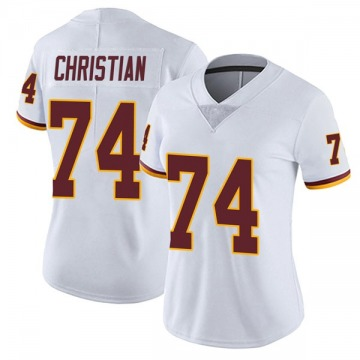 Women's Nike Washington Redskins Geron Christian White Vapor Untouchable Jersey - Limited