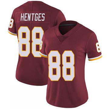 Women's Nike Washington Redskins Hale Hentges Burgundy 100th Vapor Jersey - Limited