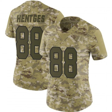 Women's Nike Washington Redskins Hale Hentges Camo 2018 Salute to Service Jersey - Limited