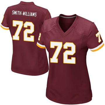 Women's Nike Washington Redskins James Smith-Williams Burgundy Team Color Jersey - Game