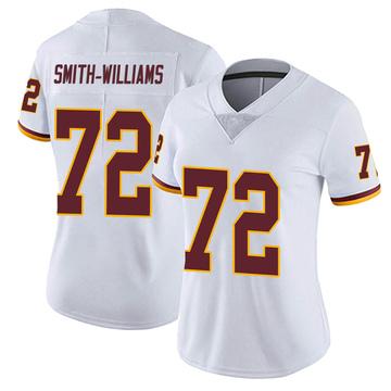 Women's Nike Washington Redskins James Smith-Williams White Vapor Untouchable Jersey - Limited