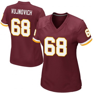 Women's Nike Washington Redskins Jeremy Vujnovich Burgundy Team Color Jersey - Game