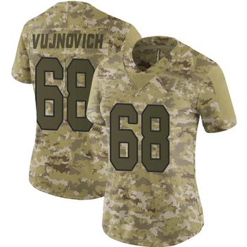 Women's Nike Washington Redskins Jeremy Vujnovich Camo 2018 Salute to Service Jersey - Limited