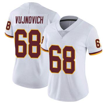 Women's Nike Washington Redskins Jeremy Vujnovich White Vapor Untouchable Jersey - Limited