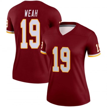 Women's Nike Washington Redskins Jester Weah Burgundy Jersey - Legend