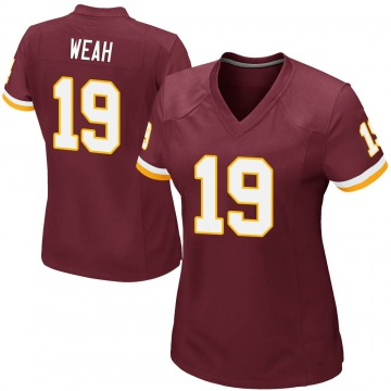 Women's Nike Washington Redskins Jester Weah Burgundy Team Color Jersey - Game
