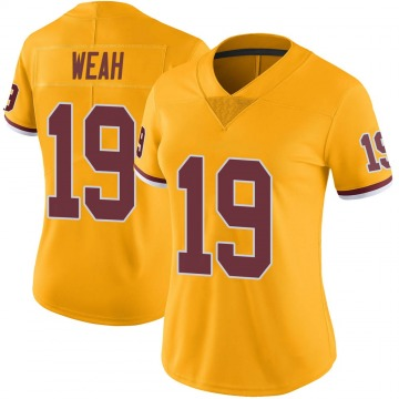 Women's Nike Washington Redskins Jester Weah Gold Color Rush Jersey - Limited