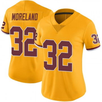Women's Nike Washington Redskins Jimmy Moreland Gold Color Rush Jersey - Limited