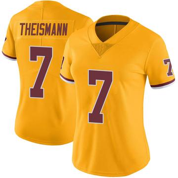 Women's Nike Washington Redskins Joe Theismann Gold Color Rush Jersey - Limited
