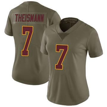 Women's Nike Washington Redskins Joe Theismann Green 2017 Salute to Service Jersey - Limited