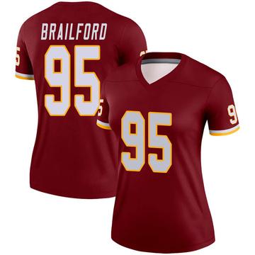 Women's Nike Washington Redskins Jordan Brailford Burgundy Jersey - Legend