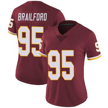 Women's Nike Washington Redskins Jordan Brailford Burgundy Team Color Vapor Untouchable Jersey - Limited