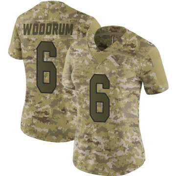Women's Nike Washington Redskins Josh Woodrum Camo 2018 Salute to Service Jersey - Limited